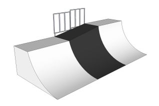 Two-level quarter pipe