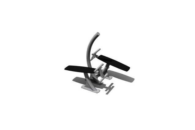 3D rendering af Fitness - Double sit up bench