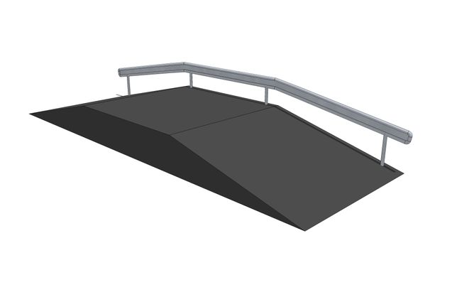3D rendering af Funbox with rail 3/3