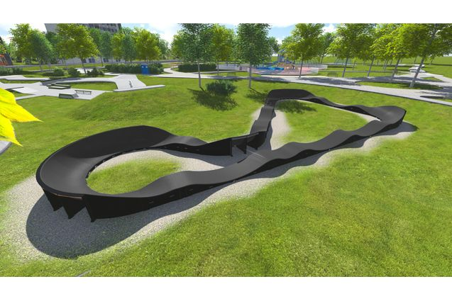 3D rendering af Pumptrack-PC3